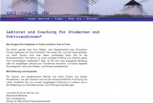 Screenshot uni-coach.de
